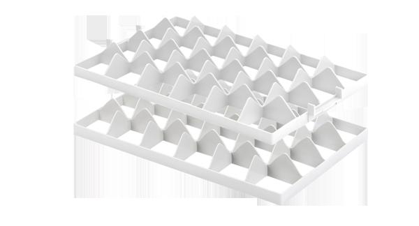 Aluminiumkisten, 605350 Gläsereinsatz mit 24 Fächern, f. vergitterte Kunststoffbehälter Aluboxen