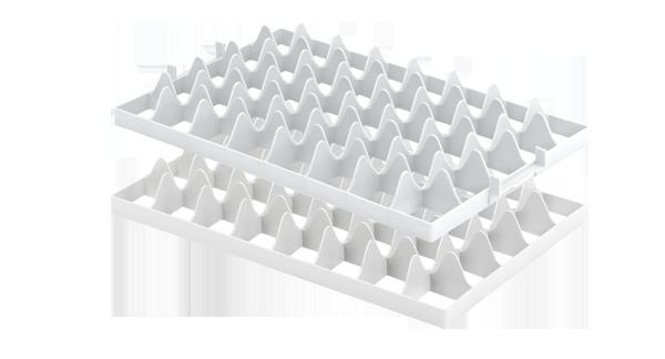 Aluminiumkisten, 605360 Gläsereinsatz mit 40 Fächern, f. vergitterte Kunststoffbehälter Aluboxen