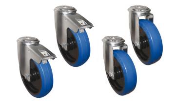 Rädersatz für Alu-Riffelblechboxen