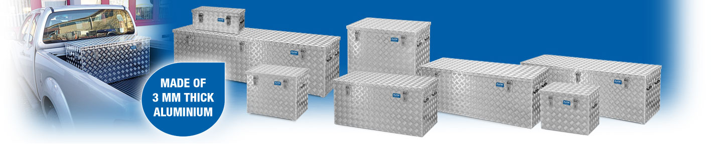 ALUMINIUM 3 SET Boxen Alubox Alukiste Transportbox