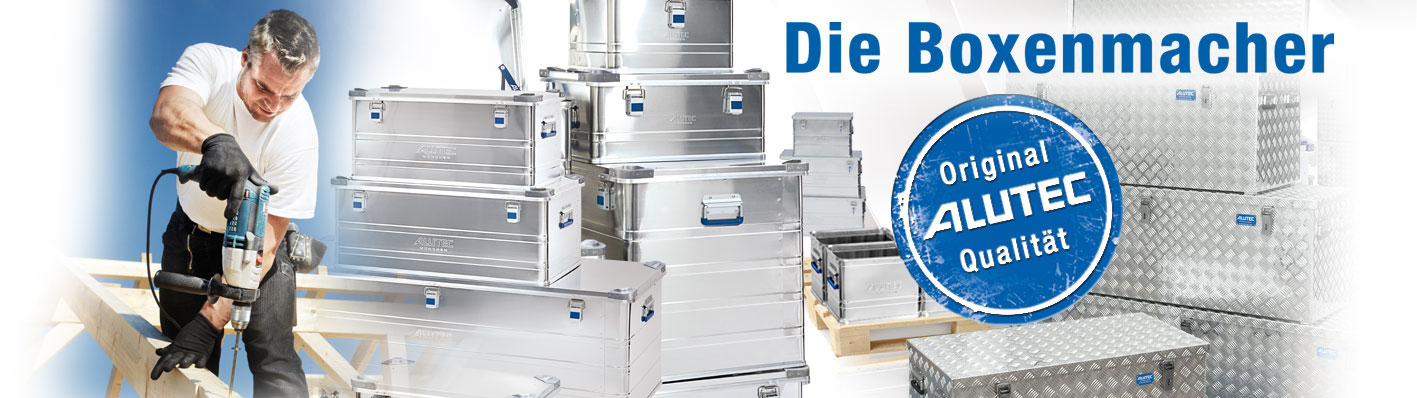 Willkommen ALUTEC – Ihrem innovativen Hersteller und Lieferanten von Aluboxen und Alukisten, Transportkisten und Transportboxen aus Aluminium.